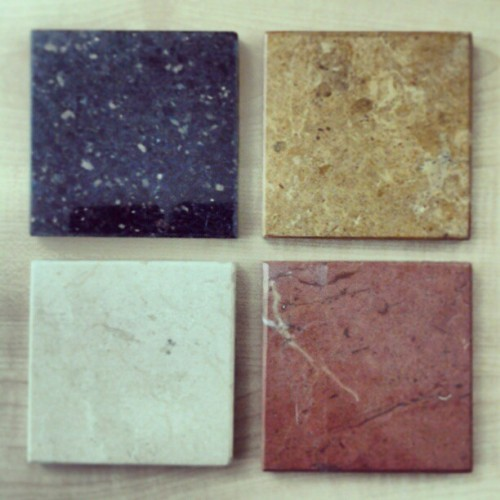 my stone selection for the floor design