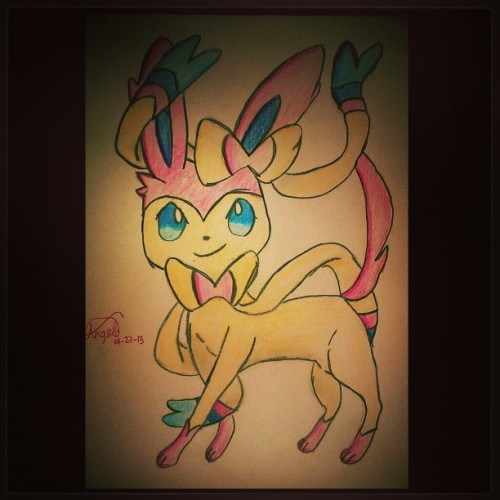Sylveon ❤ The eighth Eevee evolution! So cute :D