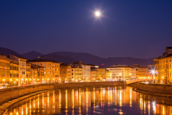 Moonrise Above Arno - Lazio, Italy | by Vaidas M
