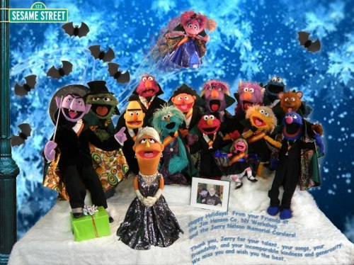 "iheartthemuppets:  ""Happy Holidays! From your friends at the Jim Henson Co. NY Workshop and the Jerry Nelson Memorial Carolers Thank You, Jerry for all your talent, your songs, your friendship, and your incomparable kindness and generosity. We miss you and wish you the best."""