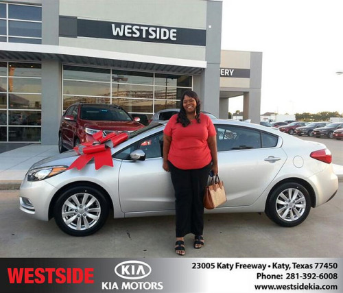 #HappyAnniversary to Denise Daniels on your 2014 #Kia #Forte from William Hadnott at Westside Kia! on Flickr.