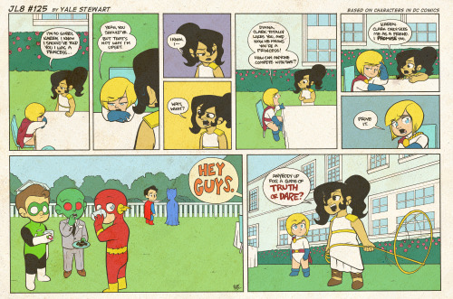 jl8comic:  JL8 #125 by Yale Stewart Based on characters in DC Comics. Creative content © Yale Stewart. Like the Facebook page here! Archive 2013 Con Schedule Twitter Pick up the first issue of my creator-owned comic here, or merch at the new online store! —- Hey guys! So, I'll be straight with you. It looks like I need a new car. That being said, I wanted to remind everyone about my creator-owned comic for sale over on Gumroad. It's a digital, 32 page PDF, and you choose what to pay for it. If some of you would be so kind to at least go give it a look, it'd be much appreciated! There's a link above, but here's another! Pick up the first issue of my creator-owned comic here. Thanks! Yale