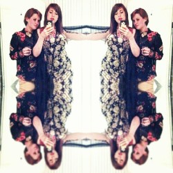 @cupcaketurtle. & I on our floral game last night. #differentdimension #ihaveaconjoinedtwin