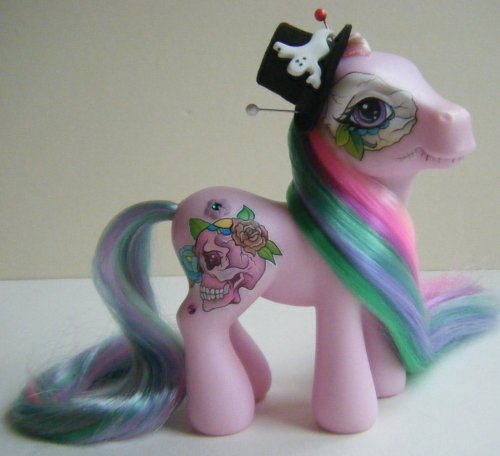 OOAK Custom Day of the Dead inspired MLP My Little by ~eponyart