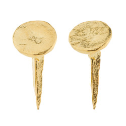 oh-like:  OhLike: Tom Binns Gold Bent Nail Voila Earrings