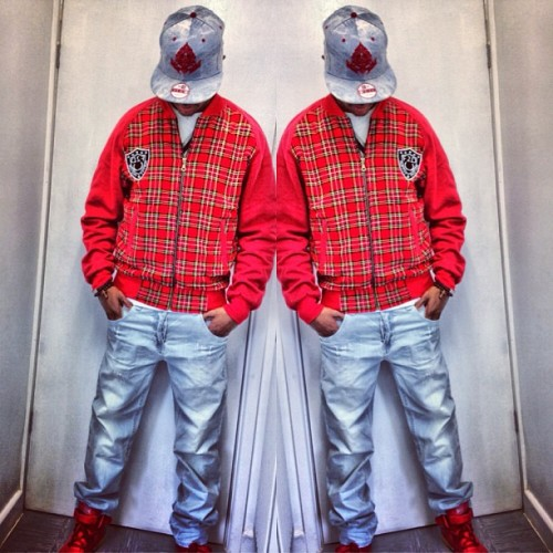 My boy @f2dsales wearing our cotton tartan jacket coming soon and denim NEW ERA snapback coming later this year. #family #f2dclothing #f2d #fresh2def #tartan #jacket #plaid #newera #denim #snapback #streetwear #fashion #instafashion #swag #dope #uk #ukfashion