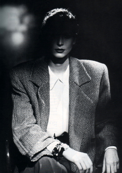 Giorgio Amani, American Vogue, September 1987. Photograph by Aldo Fallai.