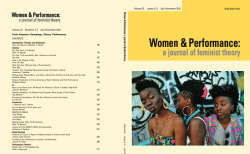 "karaj:   the new issue of women & performance: ""punk anteriors: genealogy, theory, performance."" it was co-edited by fiona ib ngo and beth stinson and features articles by mimi thi nguyen and kate wadkins, plus a review of alice bag's book violence girl. this image is by allison hamilton."