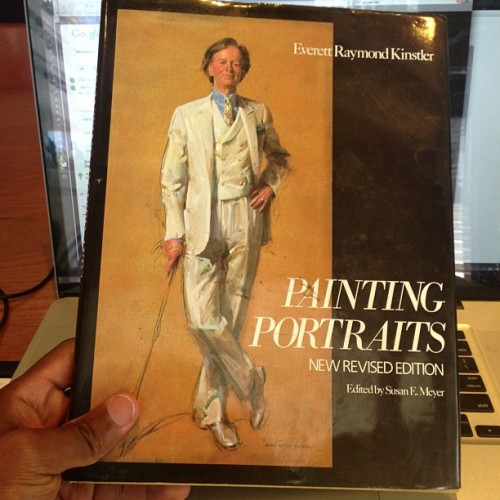 New Book added to the Library. Painting Portraits by Everett Raymond Kinstler. 🎨✔👌😃📚📖🇺🇸💼👔revised addition #paint #painter  #paintingportrait #everettraymondkinstler #art #artist