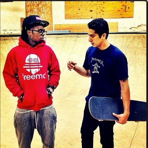 #LilWayne #rocking #kreemo! Get it at #dylsings - www.dylsings.com! #skating #streetfashion #menswear