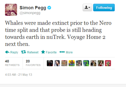 halliebadger:  goldshirts-tightpants:  simon pegg really wants to make the reboot whale movie happen  YES