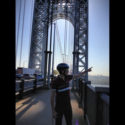 """It's that way."" @m_demartino. @rapha_n_america's NE #RGR…& #NYC - #tycrgr13 #yesterdaygram #BikeNYC #cycling #coffee #rapha #RGR #rideyourbike #drinkgreatcoffee #tycrgr13 #specialtycoffee #latergram"
