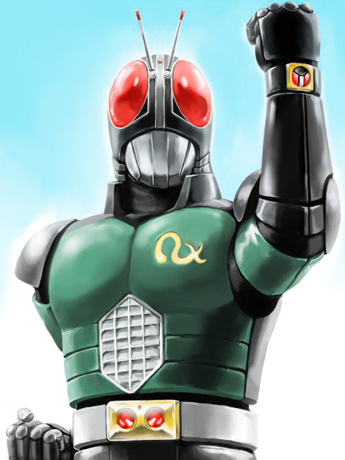 "nipponhero:  ""I am the Child of the Sun!! Kamen Rider…! BLACK! RX!!!""- Kotaro Minami (KAMEN RIDER BLACK RX)"