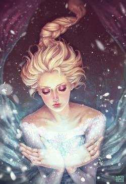 snow art disney frozen elsa queen elsa