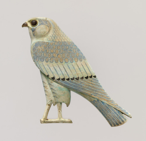 aleyma:  Horus falcon inlay, made in Egypt in the 4th century (source).