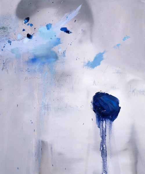 blue-voids:  Martin Brouillette - Inaccessible, oil and crayon on canvas, 2010