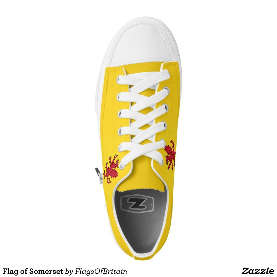 Flag of Somerset Low-Top Sneakers - Unique Canvas Shoes With Interchangeable Tops  External image  Buy This Design Here: Flag of Somerset Low-Top Sneakers Created by Fashion Designer: FlagsOfBritain Look sporty, stylish and elegant in a pair of unique custom sneakers! Each pair of custom Low Top ZIPZ Shoes is designed so you can fit your style to any wardrobe, mood, party or occasion. Fashionable sneakers for kids and adults, ZIPZ shoes give you a unique and personalized way to express yourself!Flag of Somerset Low-Top Sneakers Product Information - Unisex sizing: 4-13 Men's | 6-15 Women's - Material and fabric: Durable canvas tops, rubber soles - Buy multiple pairs! ZIPZ shoes are interchangeable, the top cover can be zipped on and off so you can easily switch up your style on the go - Rubber soles are manufactured with extra cushioned insoles and a specially designed arch support system to give your feet a comfortable and healthy fit - Quality you can trust: ZIPZ has been independently tested by SATRA for wear, use, and durability - Additional cost for designing on the tongue of the shoe - Flag of Somerset Low-Top Sneakers are printed in Santa Fe Springs, CA #sneakers#shoes#footwear#style#fashion#sports#fashionista#OOTD#streetwear#fashionblogger