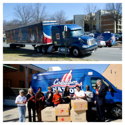 Condom Nation makes a pit stop in Little Rock AR to donate 52,000 #condoms to the Health Department of Arkansas.