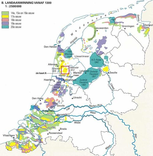 landofmaps:  Land reclamation in the Netherlands since 1300