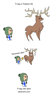 satwcomic:  Deer Hunt [link] That's Finland for you.  Scandinavia and the World is officially on tumblr. Gotta love Finland.