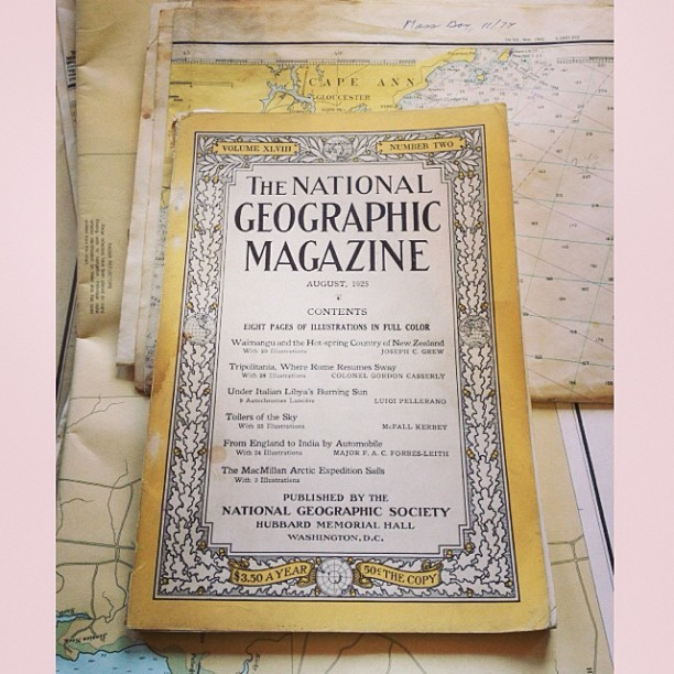 vintage Nat Geo circa 1925 (at SoWa Open Market)