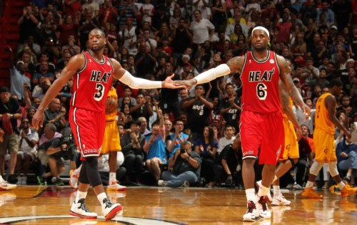 Dwyane Wade & LeBron James (Feb. 24, 2013) (via NBA on Facebook)