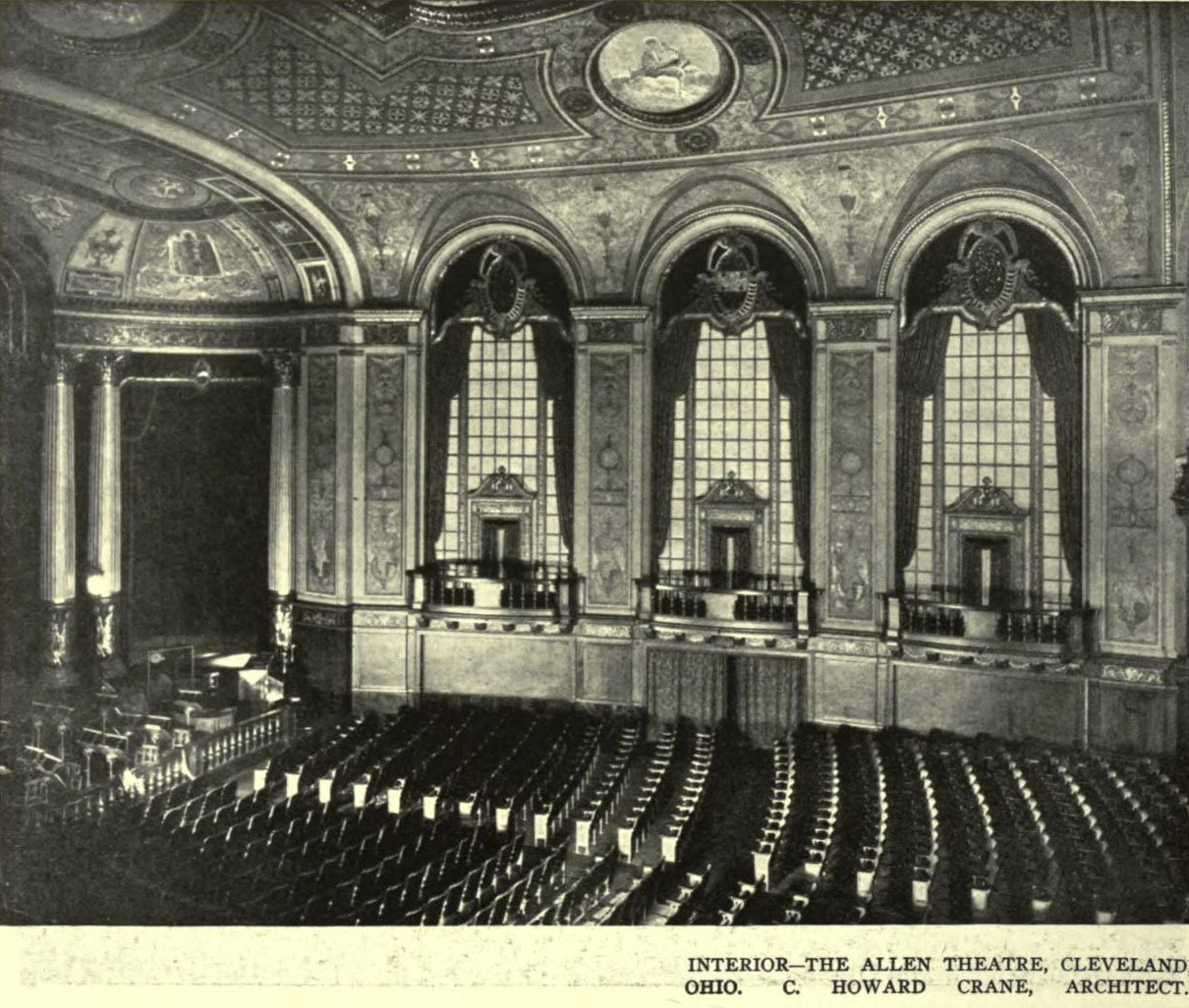Inside the Allen Theatre, Cleveland