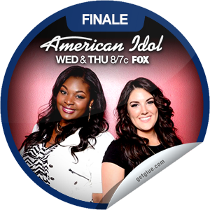 I just unlocked the American Idol Season 12 Finale sticker on GetGlue                      8398 others have also unlocked the American Idol Season 12 Finale sticker on GetGlue.com                  Candice Glover and Kree Harrison battle for the title in the two-part Season 12 finale. Thanks for watching! Share this one proudly. It's from our friends at http://americanidol.com and FOX.