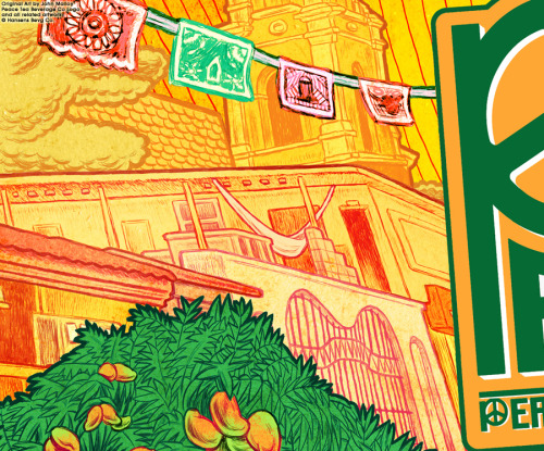 Peace: Viva Mango Juice  Beverage Label Illustration/Design & Logo Design forPeace Tea Beverage Co