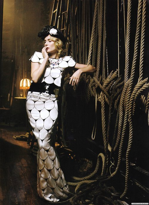 Diane Kruger by Mark Seliger for Vogue Italia, March 2009 via bohemea