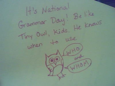 NATIONAL GRAMMAR DAY? YOU'R ARGUMENT IS INVALID. baileygenine: (via zolora)