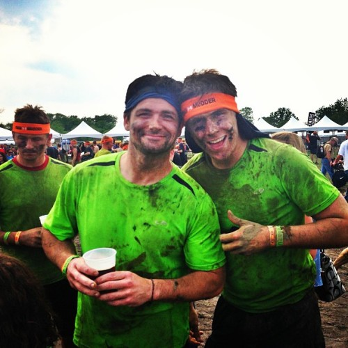 Tough Mudder with my older brother. #Me #MudderBrudder #toughmudder #Chicago