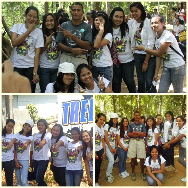 WITH GROUP MATES @ TREE TOP ADVENTURE :)