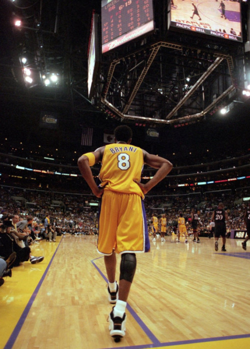 kobebeanbryant:  Kobe Bryant walks out to the court during the NBA Finals game against the Philadelphia 76ers.