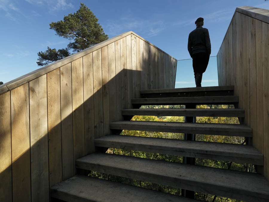 Forest Stair by Saunders Architecture in Stokke