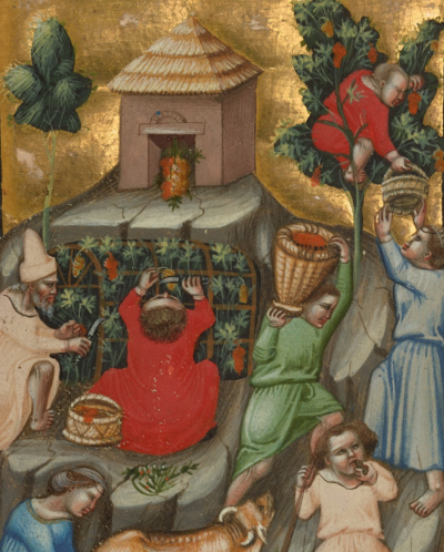 #harvest, #november, #illuminated_manuscripts, #medieval