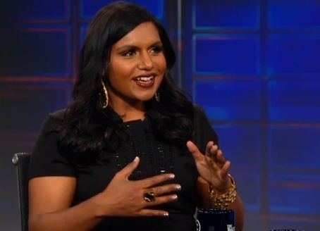 "thedailyshow:  Tonight: Mindy Kaling from ""The Mindy Project"" makes her second appearance at the desk. In 2011, she told Jon her parents love Fox News: http://on.cc.com/13tO4Yr"