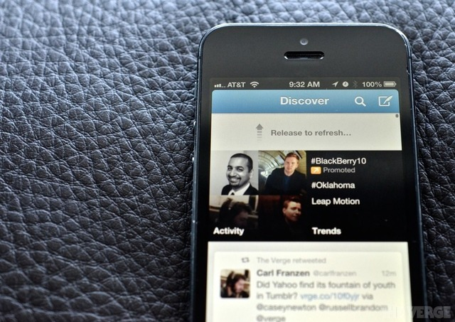 "thisistheverge:  Twitter granted patent on pull-to-refresh, promises to only use it defensively Twitter was just officially granted a patent on the ubiquitous pull-to-refresh gesture — a touch interface concept the company acquired when it purchased Tweetie developer Atebits in 2010 and hired founder Loren Brichter, who invented the move. ""I had started working on the patent two months before the Twitter deal,"" said Brichter during a phone call yesterday. The application was officially filed the day before Brichter signed the Twitter acquisition paperwork. ""The patent was the cherry on top,"" he says."