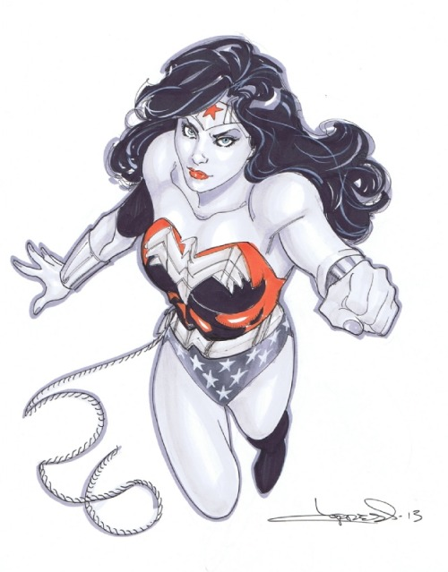 keaneoncomics:  Wonder Woman by Aaron Lopresti