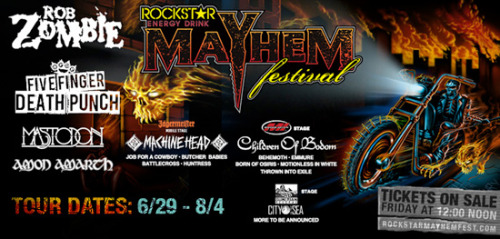 Amon Amarth, Behemoth, Job For A Cowboy, Battlecross Confirmed For Rockstar Energy Drink Mayhem Fest 2013