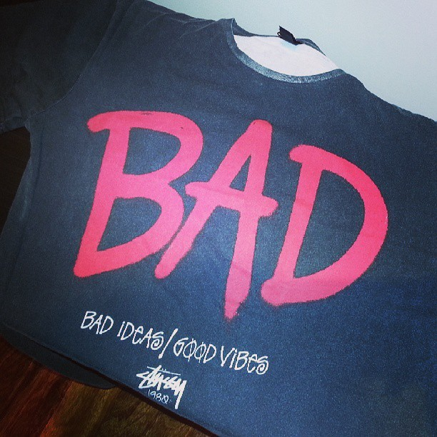 Tonights purchase #shopping #stussy #retailtherapy #bad #mj #goodvibes #tshirt #fashion #mens