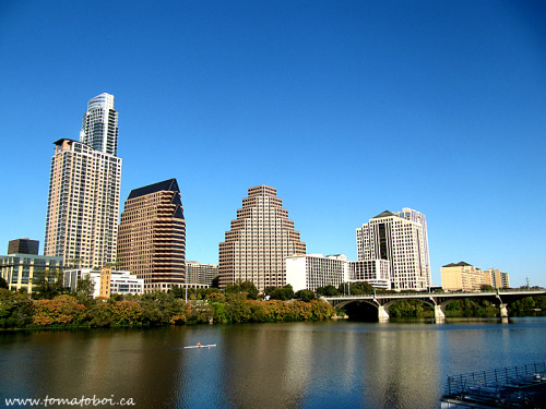 ytomatoboi submitted:  Austin skyline from riversideNovember, 2012