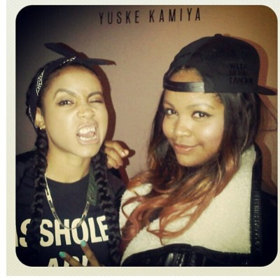 Me and Britt @prettyoddporkchop being pretty reckless at @mookeebyyuske party…. Pic by @illsociety_magazine 😉