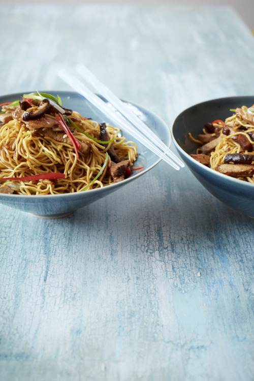 © Christina Holmes Stir-Fried Noodles with Roast Pork Recipe Contributed by Grace Parisi Click here for full recipe