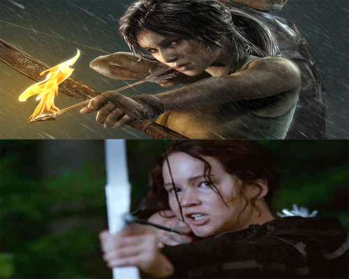 Lara Croft and Katniss Everdeen  Like if you get it