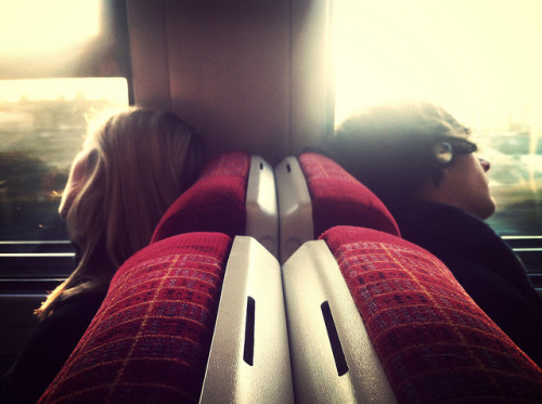 Commute by picturesmith on Flickr.It looks like they are riding on a train. I've always wanted, but never had the chance, to ride a train. Maybe one day I'll do the Seattle to Portland…