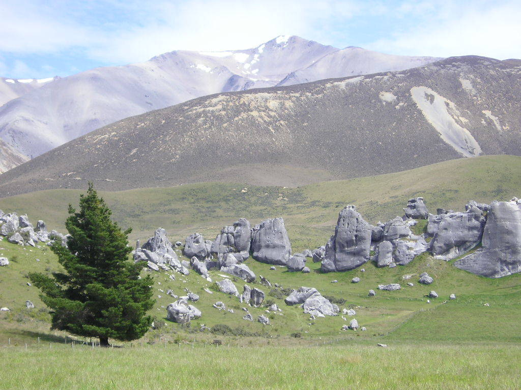 Rock formations at Castle Hill, Canterbury, New Zealand