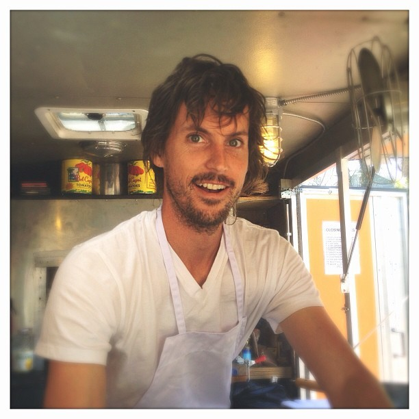 JAMES @ MONA'S PAD THAI TRUCK (at Hudson, NY)