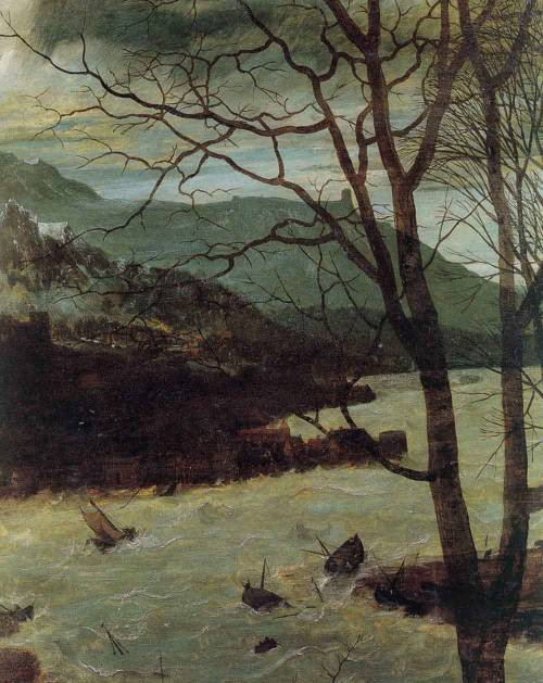 "nataliakoptseva:  Pieter Bruegel the Elder The gloomy day. Spring. A series of ""The Seasons"" detail"