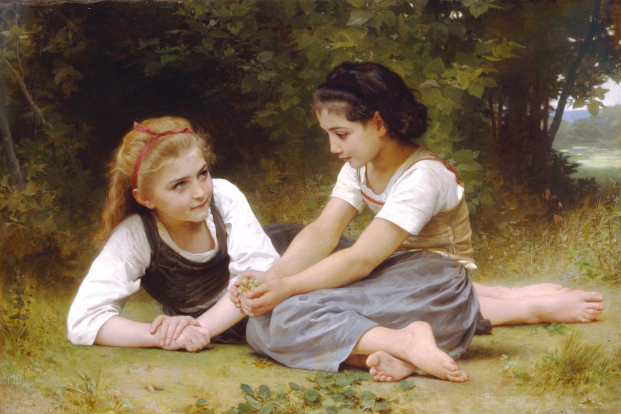 The Nut Gatherers, 1882 William-Adolphe Bouguereau